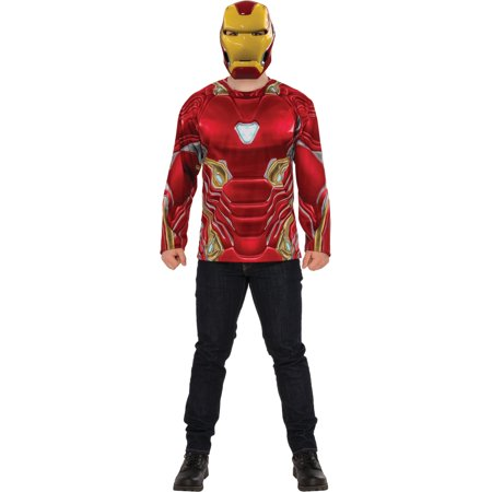 Costumes Iron Man (Mens Avengers Infinity War Iron Man Costume Shirt And)