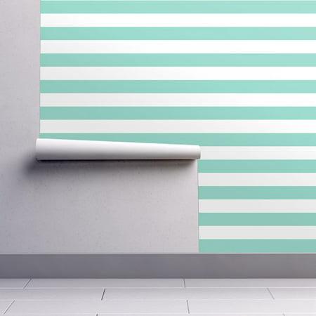 Peel-and-Stick Removable Wallpaper Jumbo Stripes Preppy Lines Nursery Beach Home ()