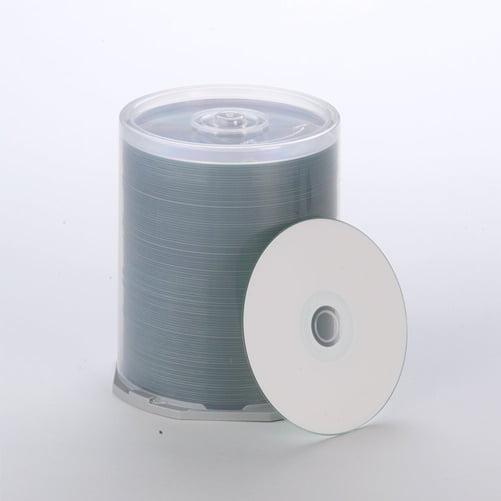 100PK TUFFCOAT PLUS DVD-R 16X 4.7GB WHITE HUB PRINTABLE, 53382