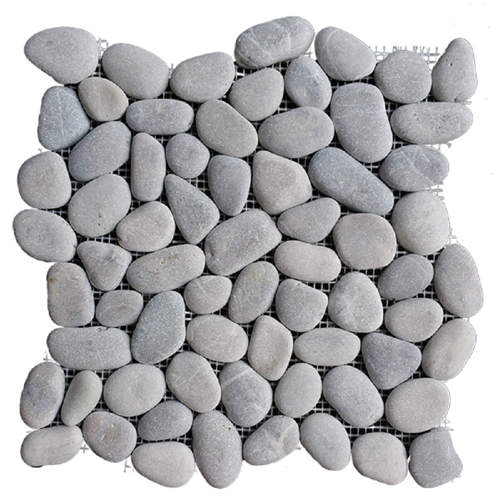 """Rainforest Light Grey Natural Pebble Floor and Wall Tile 12"""" x 12"""" (5.0 sq. ft. / case)"""