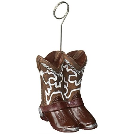 cowboy boots photo/balloon holder party accessory (1 count) - Party City Cowboy Decorations