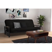 Product Image Dhp Nadine Black Metal Futon Frame With Coil Full Mattress Multiple Colors And Sizes