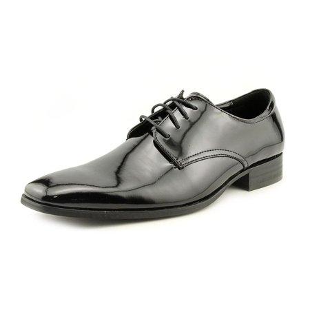 Calvin Klein Gareth II Men Square Toe Patent Leather Black Oxford