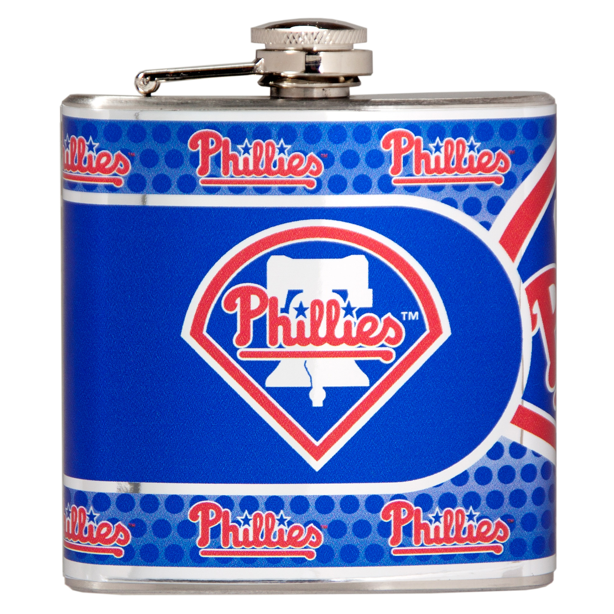 Philadelphia Phillies 6oz. Stainless Steel Hip Flask - Silver - No Size