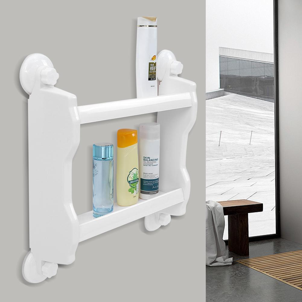 Details about  /Wall Mounted Board Plastic Hole Storage Shelf Rack Bathroom Kitchen Living Room