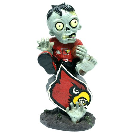 Louisville Cardinals Zombie Figurine On Logo with - Football Zombie
