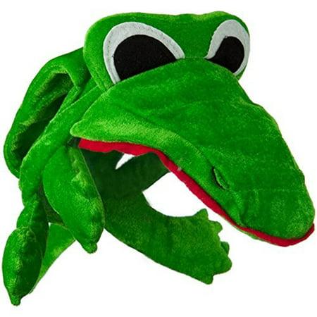 Green Alligator Crocodile Costume Hat