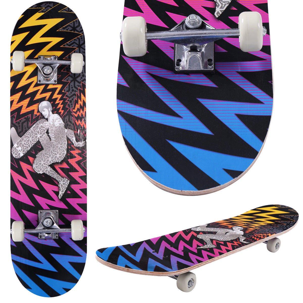 31'' x 8'' Kids Skateboard Complete Wheel Trucks Maple Deck