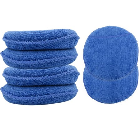 Evelots Car Care Microfiber Applicator Pads W/ Pockets, Wash & Wax, Set of 6 ()
