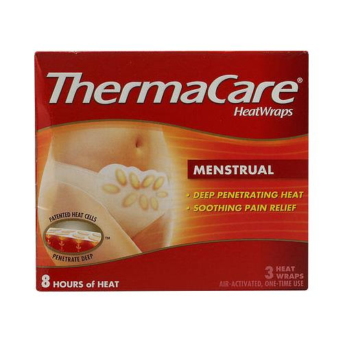 ThermaCare therapeutic heat wraps, menstrual cramp relief - 3 each