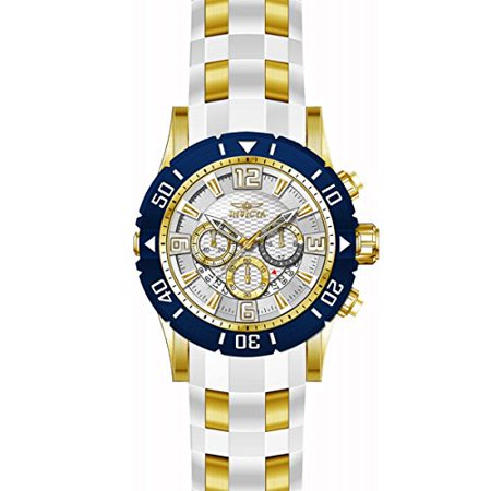 Invicta Men's Pro Diver 23706 White Rubber Swiss Chronograph Diving Watch Automatic Chronograph Swiss Wrist Watch