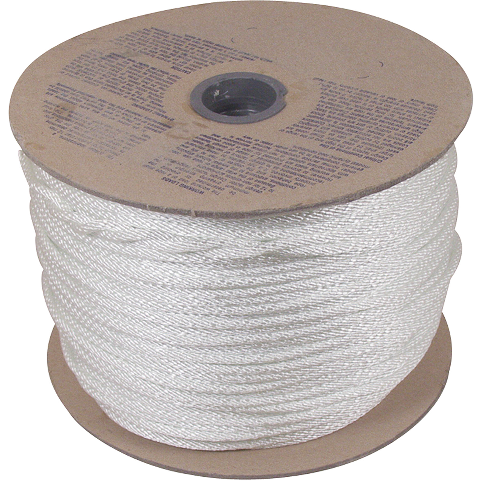 "Unicord 5/16"" x 500' Solid Braid Nylon Rope, White"