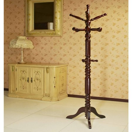 Home Craft Trandational Coat Rack w/Spinning Top, Multiple