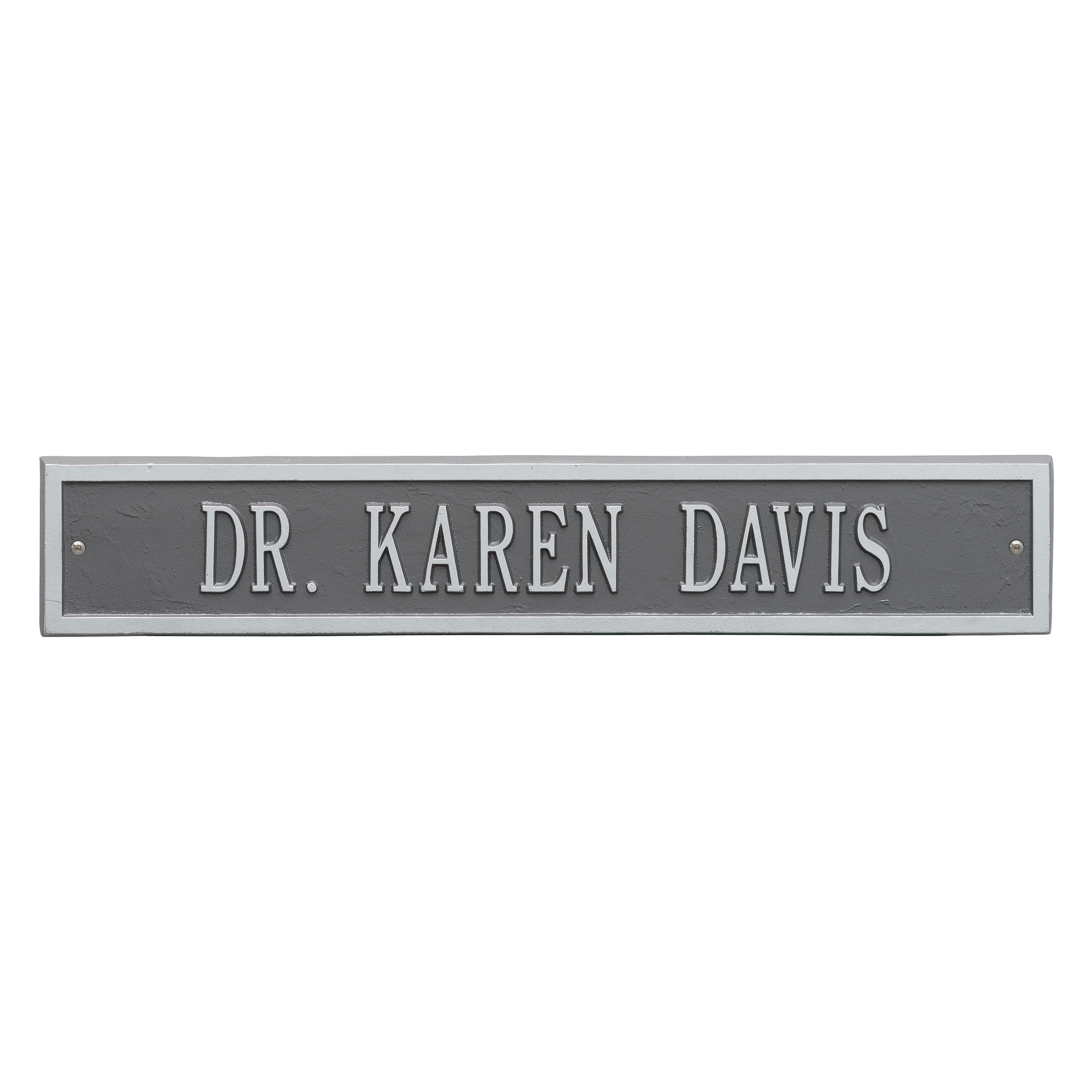 Personalized Whitehall Products One-Line Arch Extension Address Plaque in Pewter Silver by Whitehall