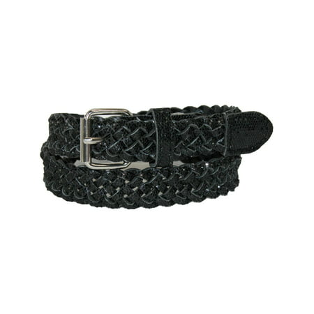Girl's Metallic Braided Belt