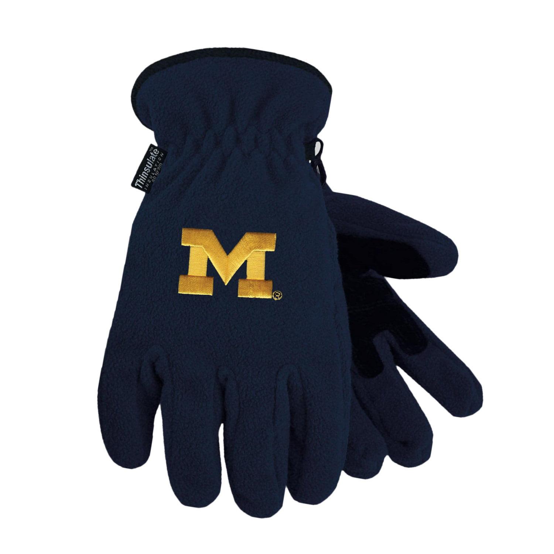 University of Michigan Heavy-Weight Fleece Gloves by
