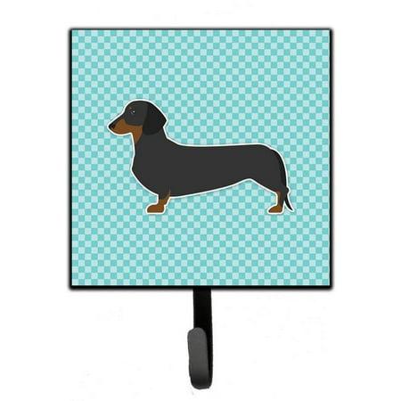 Dachshund Checkerboard Blue Leash or Key Holder - image 1 of 1