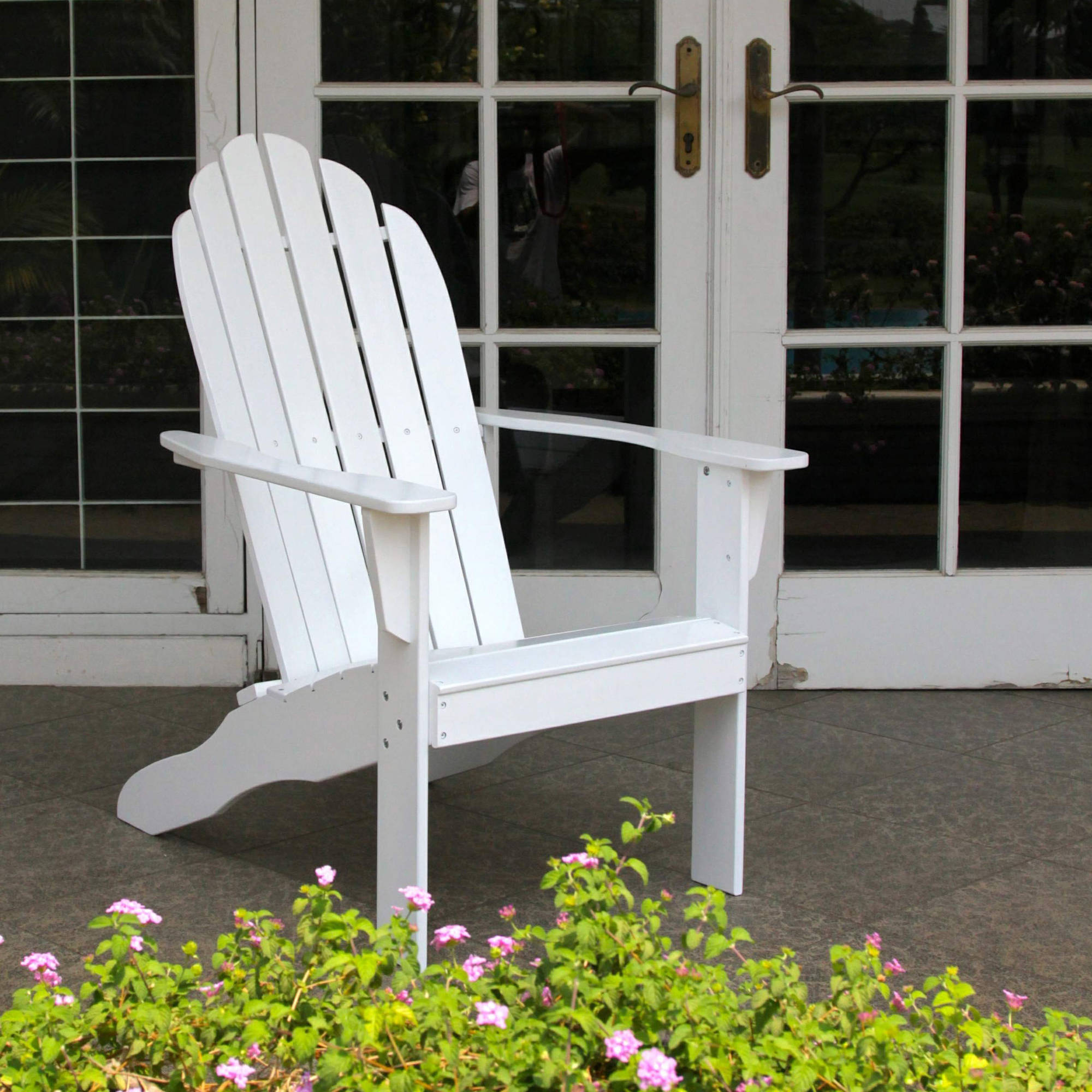 White Adirondack Chair   Walmart.com
