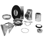 """Selkirk 6"""" Ultra-Temp Thru-the-Wall Kit Stainless"""