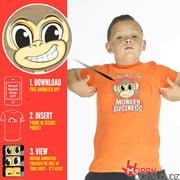 Kids Moving Eyes Monkey Business T Shirt