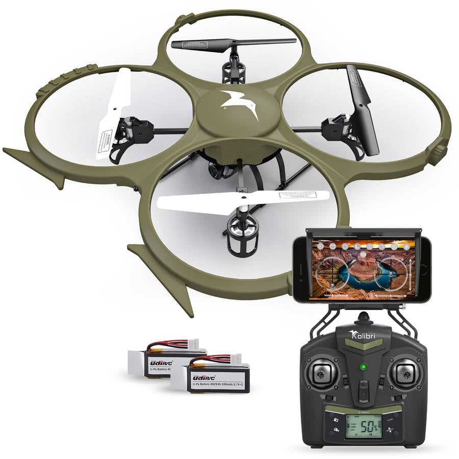 Kolibri Discovery Delta-Recon WiFi U818A Quadcopter Drone Tactical Edition Military Matte Green UDI RC, Extra... by UDI