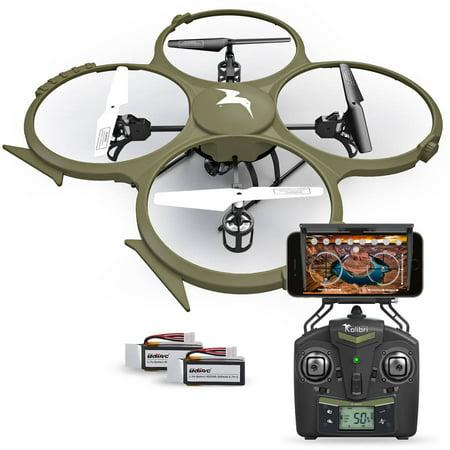 Kolibri Discovery Delta-Recon WiFi U818A Quadcopter Drone Tactical Edition Military Matte Green UDI RC, Extra Battery