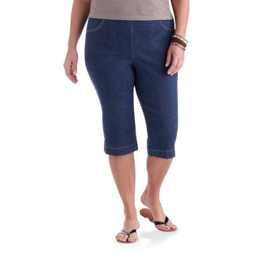 Just My Size - Women's Plus-Size 2-Pocket Pull-On Stretch Capri Pants