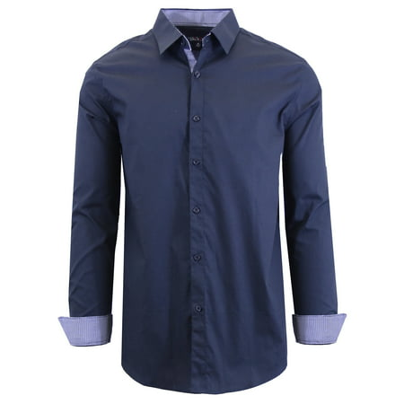 Cotton Jersey Dress Shirt (Men's Long Sleeve Stretch Cotton Dress Shirts)