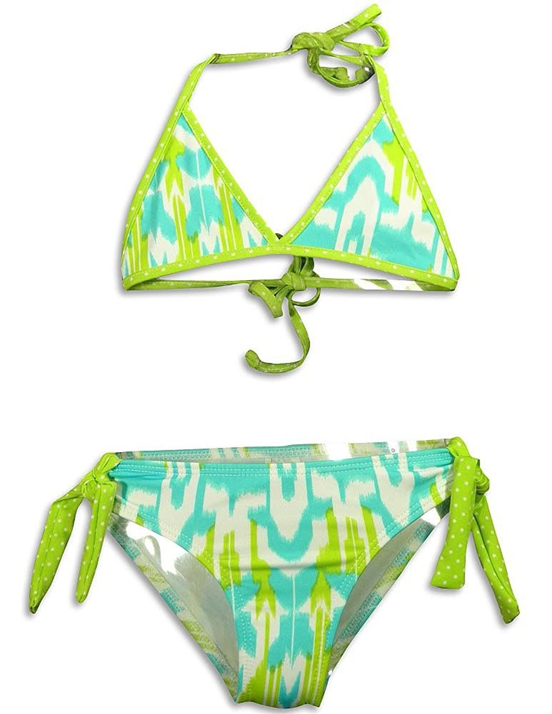 405 South by Anita G - Little Girls 2 Pc Aztec Bikini Swimsuit Black Multi / 4