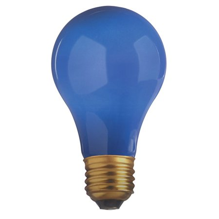 Blue Satco Incandescent Light Bulb - Satco S4981 40W 130V A19 Ceramic Blue E26 Base Incandescent bulb