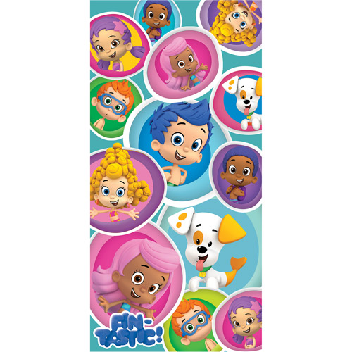 "Bubble Guppies ""Fintastic Friends"" 28"" x 58"" Licensed Beach Towel"