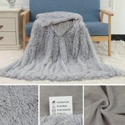 6 Colors 2 Sizes Shaggy Faux Fur Supersoft Ultra Plush Decorative Throw Blanket Winter Warm Blanket Bed Quilt, Sofa Quilt , Car Quilt (51x63 inch/ 63x79 inch)
