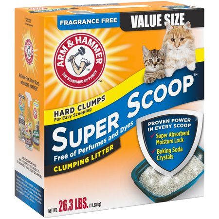 Arm Hammer Super Scoop Fragrance Free Clumping Cat Litter