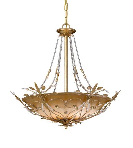 Crystorama 4700-GL Primrose 6 Light 25 inch Gold Leaf Chandelier Ceiling Light in Gold Leaf (GL) by Crystorama