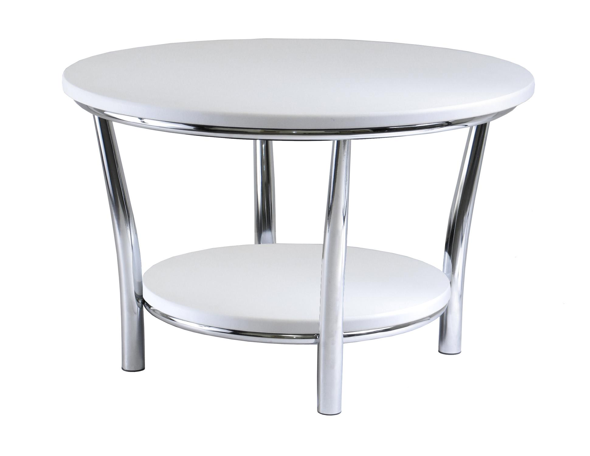 Picture of: Maya Round Coffee Table White Top Metal Legs Walmart Com Walmart Com