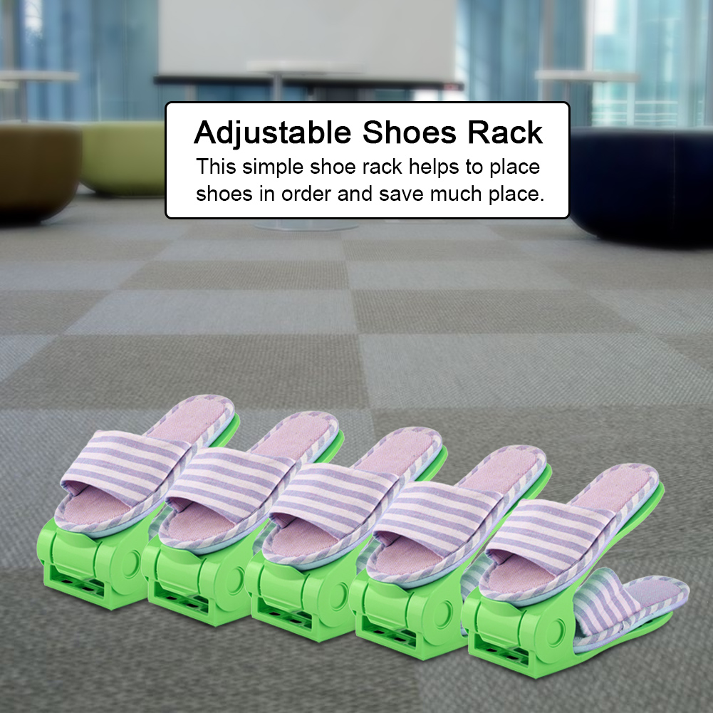 WALFRONT 10/16/20pcs Double Layer Adjustable Shoes Rack Organizer Shoe  Storage Holder Space Saving, Shoes Holder, Shoes Organizer