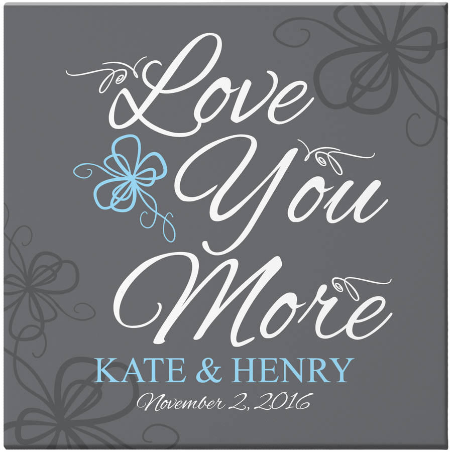 Personalized More In Love Canvas, 16x16
