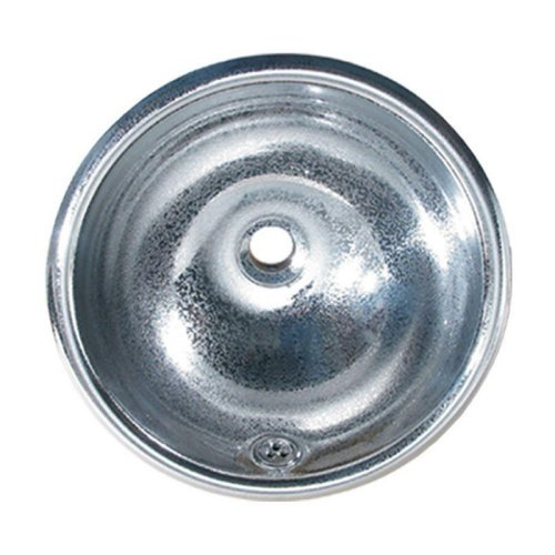Whitehaus Collection WH602 Decorative Round Crackle Drop-In Sink