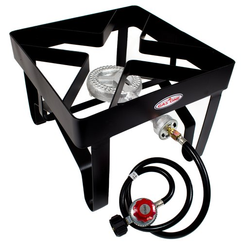 Gas One High Pressure 1-Burner Propane Outdoor Cooker Burner Stove Round 100,000 BTU by Gas One