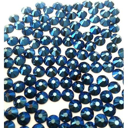 HOTFIX Metallic Blue Crystal Rhinestones Flatback 144 SWAROVSKI 4.8mm 20ss ss20