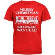 Christmas Vacation - Shitter Was Full Red Adult T-Shirt - Medium