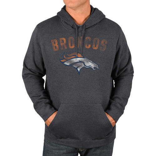 NFL Denver Bronco's Men's Big and Tall Pullover Hooded Sweatshirt