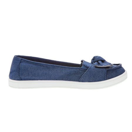 Time And Tru Womens Surf Moccasin Bow Sneaker
