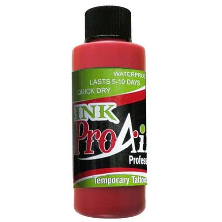 ProAiir Temporary Tattoo Ink - 2.1 oz (60ml) Lipstick Red - Walmart.com