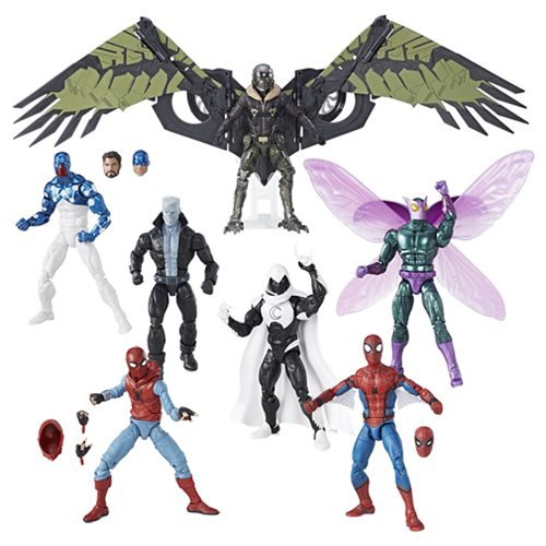 Spider-Man: Homecoming Marvel Legends Wave 8 Action Figures (Set of 7) by