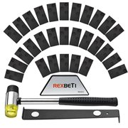 Laminate Wood Flooring Installation Kit by REXBETI with 30 Spacers, Tapping Block, Pull Bar and Mallet (Floor)