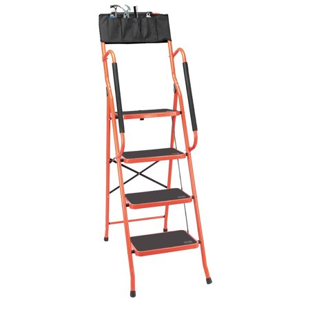 Phenomenal Ktaxon 4 Step Ladder Folding Step Stool Portable Ladder Steel Frame W Safety Padded Side Handrails Non Slip Wide Pedal Kitchen And Home Pdpeps Interior Chair Design Pdpepsorg