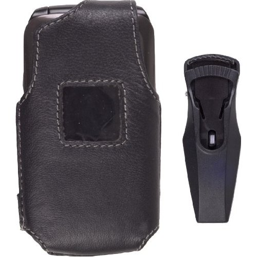 Wireless Solutions Leather Case for Samsung SCH-U310 Knack - Black
