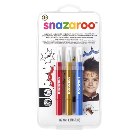 Snazaroo Face Painting Brush Pen Set, - Snazaroo Halloween Face Painting