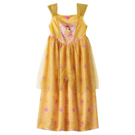 Disney Princess Nightgown (Disney Princess Belle Girls Fantasy Nightgown Beauty and the Beast )